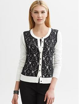 Banana Republic Anna Karenina, Fall fashion, lace cardigan