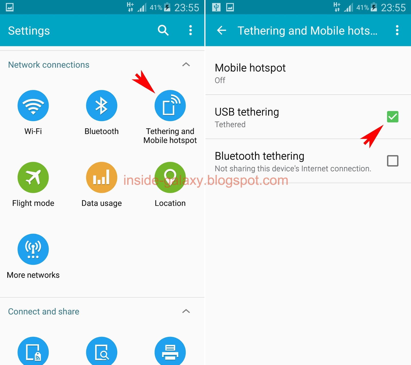 Samsung Galaxy S5 How To Enable And Use Usb Tethering In