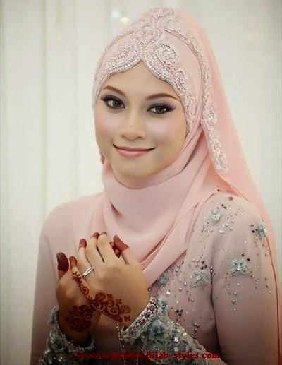 Hijab moderne pour mariée