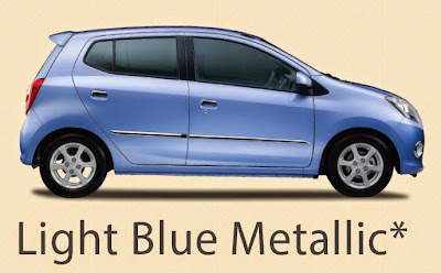 Pilihan Warna Daihatsu Ayla Red Light BLue Metalic