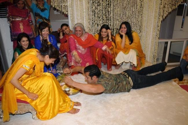 Salman Khan And Katrina Kaif At Bina Kaks Daughters Wedding