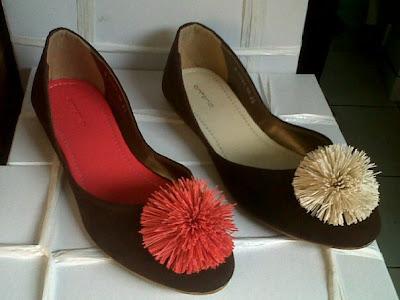 Aneka model sepatu sandal wanita murah,model sepatu wanita  Brown_Orange & Brown Cream