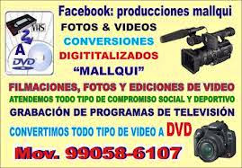 PRODUCCIONES DE AUDIO Y VIDEOS