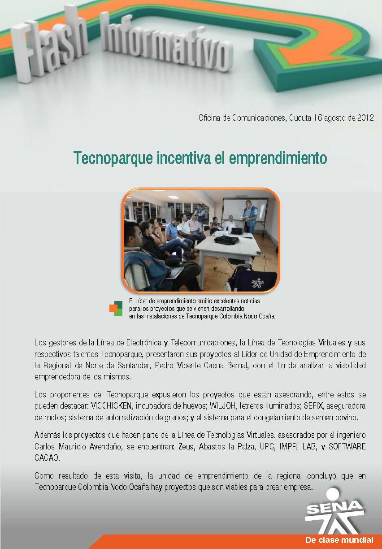 Regional norte de santander tecnoparque incentiva el for Oficina de correos santander