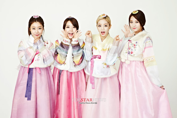 Girl's Day Lunar 2014 Hanbok