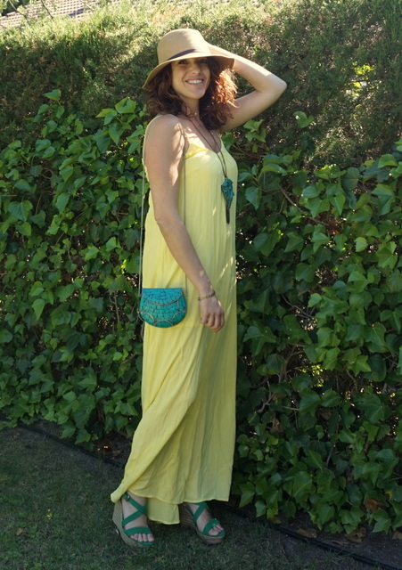 vestido amarillo largo
