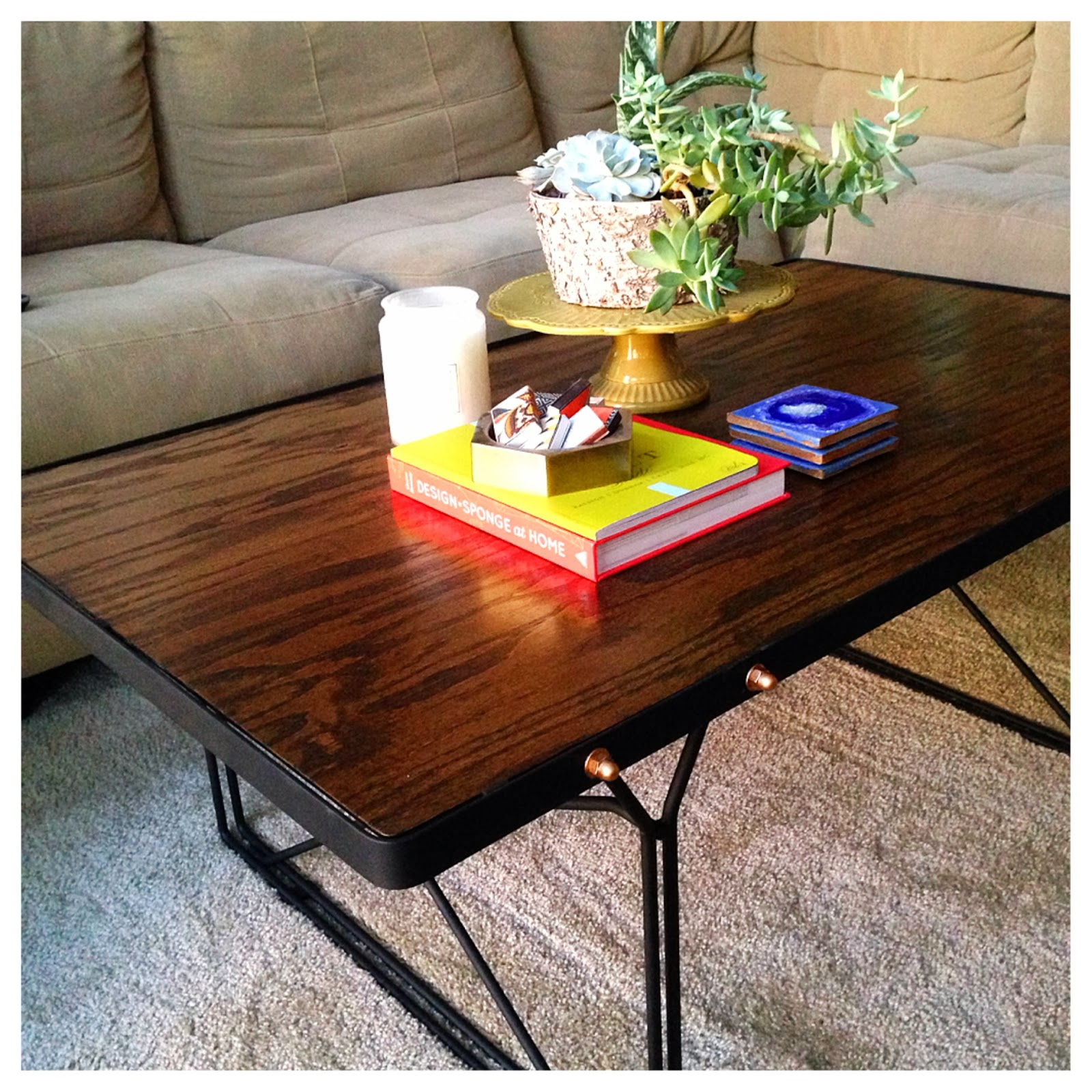 For A Song Diy Industrial Coffee Table Reveal