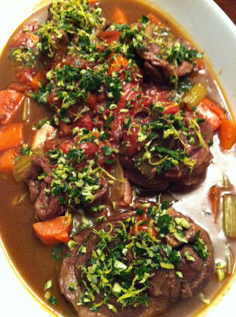 gastronomic nomad father 39 s day veal osso bucco with gremolata. Black Bedroom Furniture Sets. Home Design Ideas