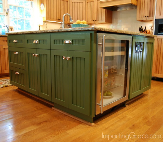 Kitchen Island Refrigerator: Imparting Grace: My Updated Kitchen