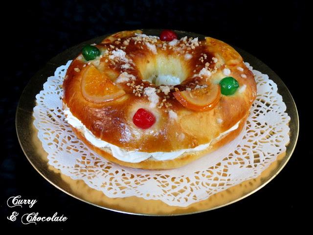 Roscón de Reyes relleno de nata. Paso a paso