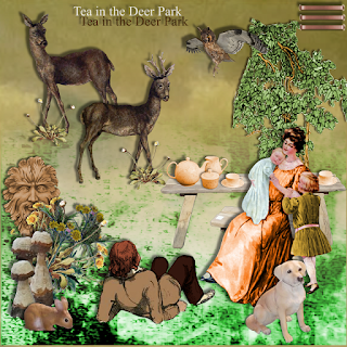 "Free scrapbook kit ""Tea in the dear park"" from JennyJennyJenny"
