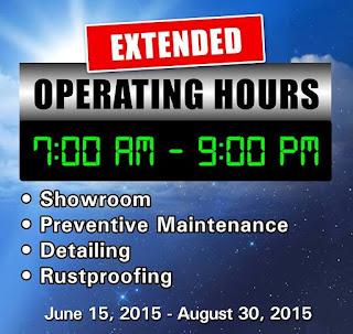 Honda cars makati extends dealership operating hours for Honda dealership hours