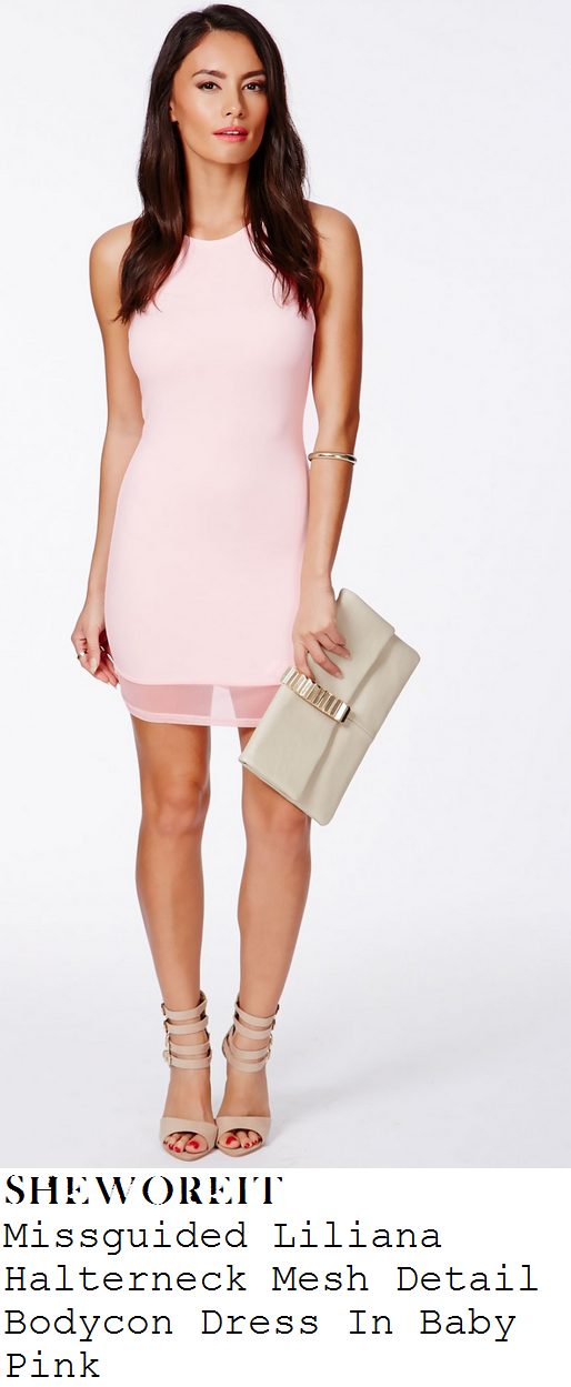 jasmin-walia-light-baby-pink-halterneck-mesh-hem-mini-dress-marbella