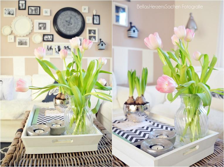 Einrichtung wohnen Wohnzimmer Tulpen Blumen