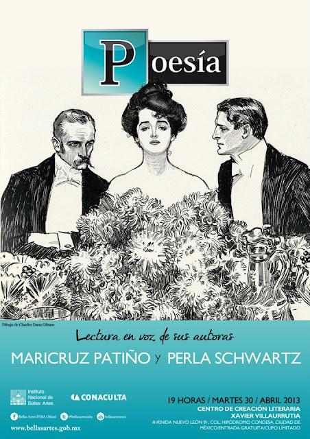 """El ciclo """"Poesía, lectura en voz de sus autoras"""" presenta a Perla Schwartz y Maricruz Patiño en el CCLXV"""