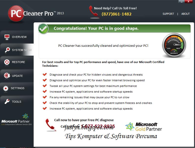 Screenshot PC Cleaner Pro V11.13.3.14