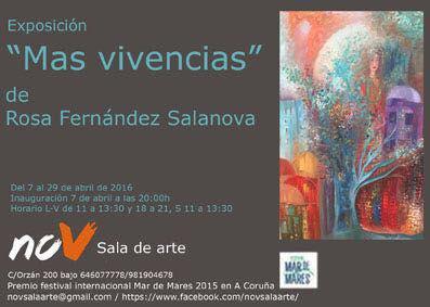 """Exposición de Pintura """"Mas Vivencias"""",Sala de Arte NOV (A Coruña)"""