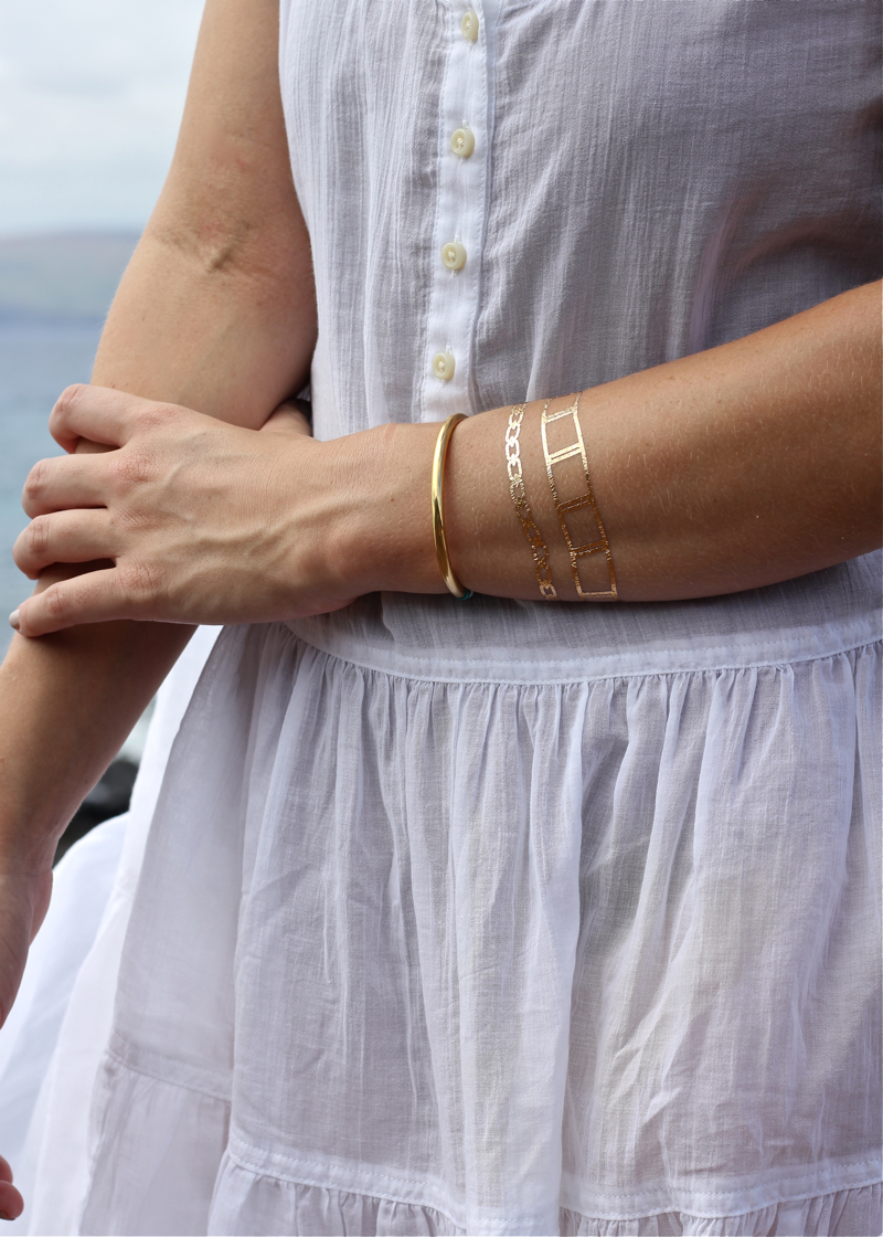Flash Tattoos, Baublebar, Bracelet, gold