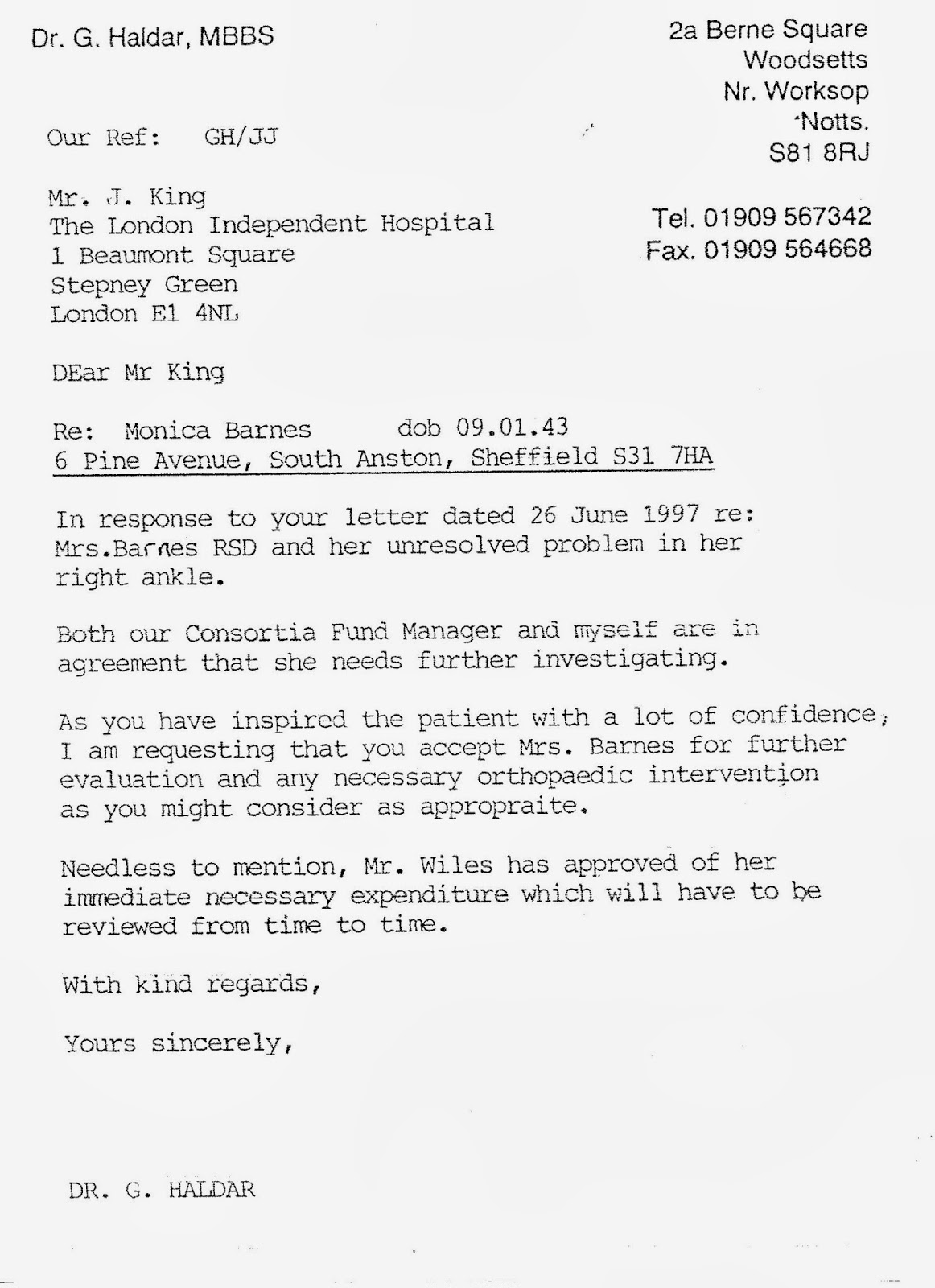 Nhs complaints see copy of dr haldars undated letter below albeit the gp practice agreed to fund the exploratory investigations themselves it does not mention my main spiritdancerdesigns Images