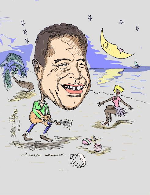 Caricatura de famoso artista hondureño