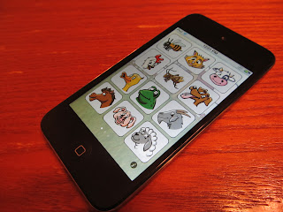iPod Touch sowing the app I Hear Ewe