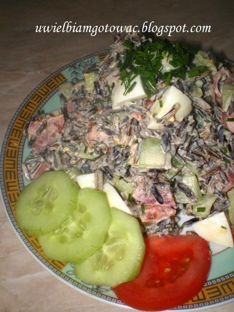 Letnia sałatka z dzikim ryżem