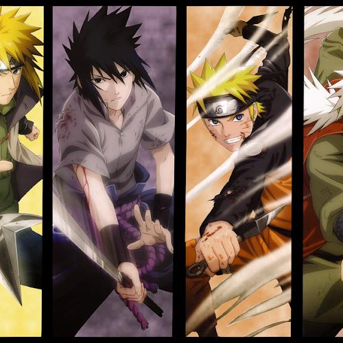 Naruto, Jiraya, Minato e Sasuke [NARUTO]