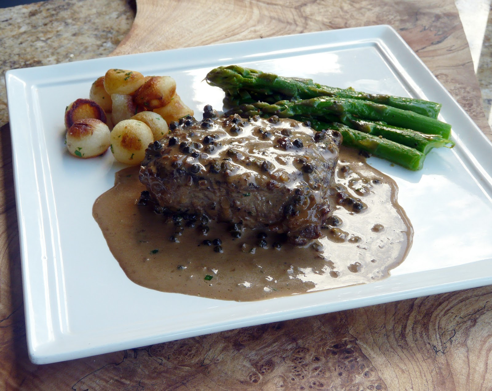 Thibeault's Table: Green Peppercorn Steak