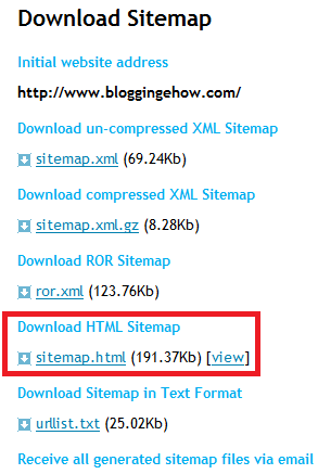 2 steps to make an xml html sitemap for your blog seo
