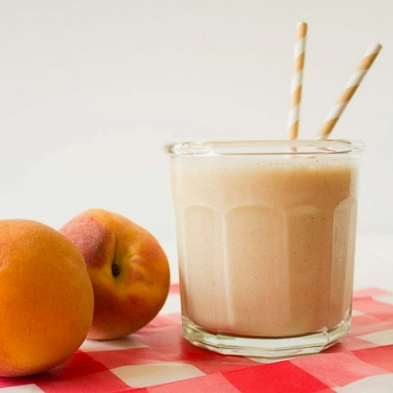Picture of banana peach smoothie