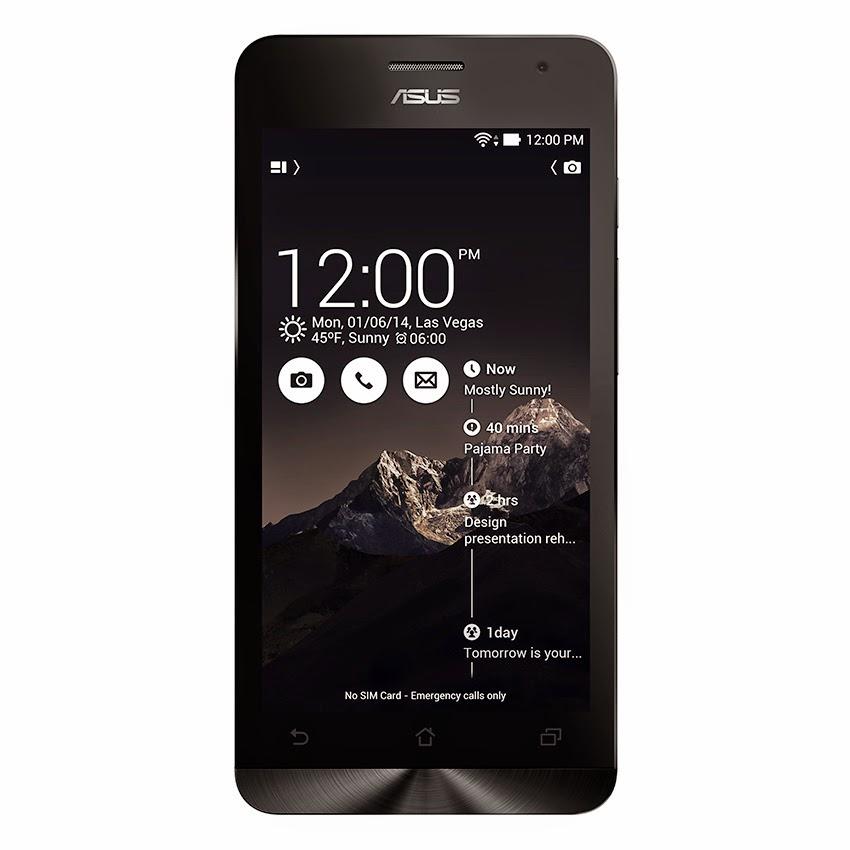 Harga Asus Zenfone 5 A500CG - 8GB - Charcoal Black