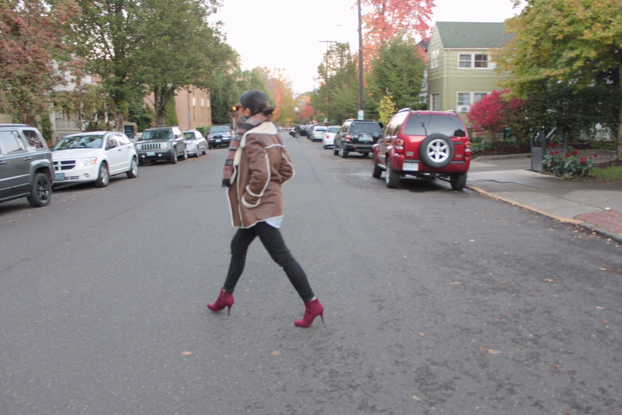 portland blogger, printed scarf, burgandy, fall 2015, ootd, off duty outfit, striped button up, oregon blogger, outfit of the day, fashion diaries, pdx blogger, pdx fashion blogger, pdx street style, street style