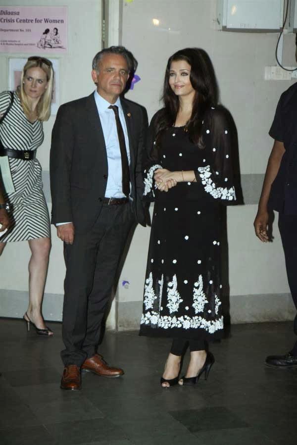 Aishwarya Rai and Dr Luiz Loures