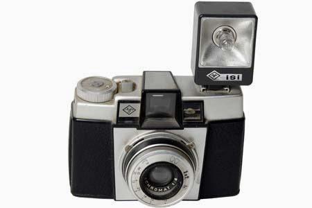 كاميرا وفلاش قديم