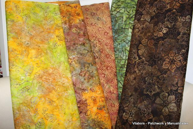 Colección Batiks de Moda Fabrics - Vilabors