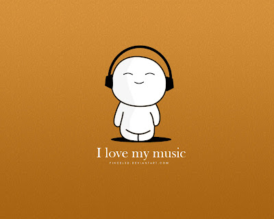 I Love My Music - Emoticon ORANGE wallpapers