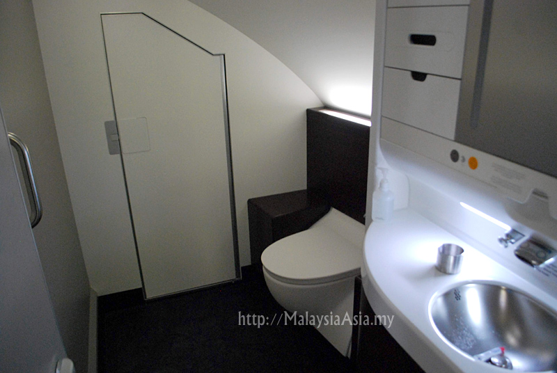 First Class toilets on the upper deck of the A380