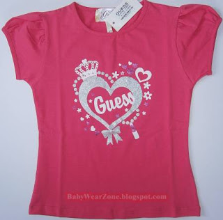 Guess Gum Blouse T-Shirt Round Neck for girls