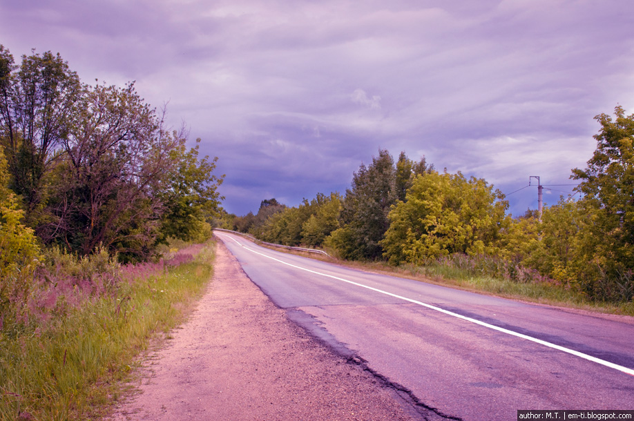 Фото. Пейзаж. Поворот перед дождём.