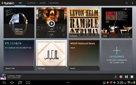 tunein radio app for android download