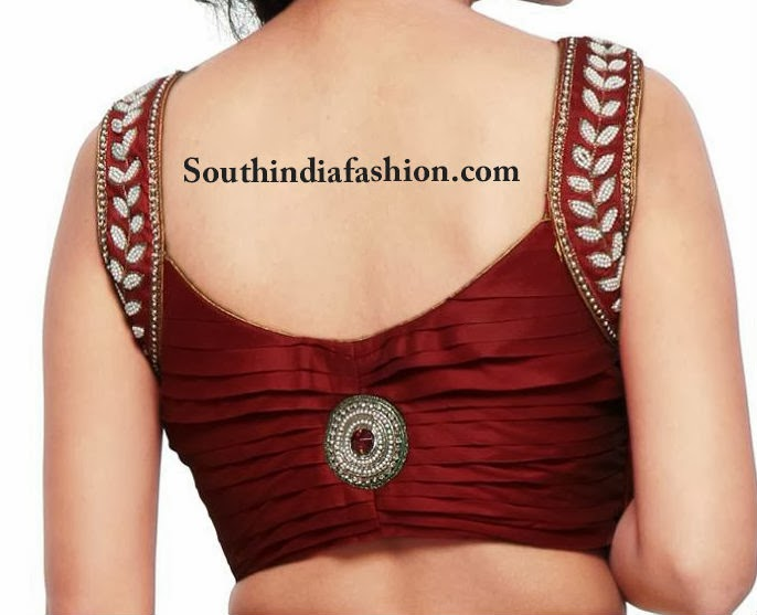 latest sleeveless blouse designs