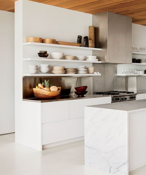 10 Beautiful White Beach House Kitchens: 10 Bellas Cocinas En Mármol Blanco10