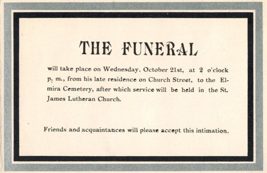 A Grave Interest Mourning Cards The Art of Death – Invitation to a Funeral