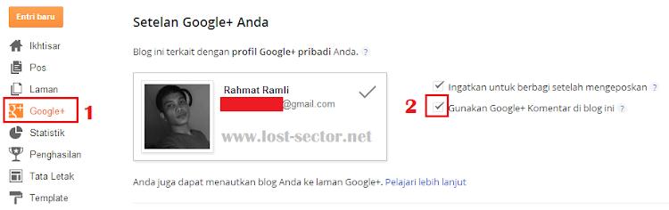Mengaktifkan fungsi komentar google+ pada blogspot