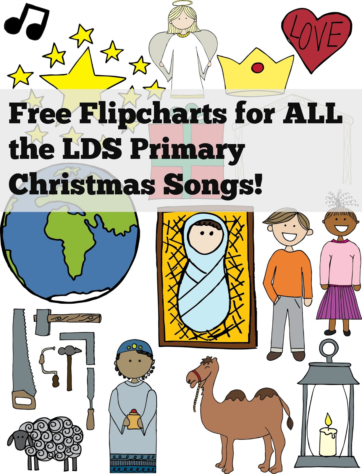 Free coloring pages lds - Free Coloring Page Flipcharts For All The Lds Primary Christmas Songs