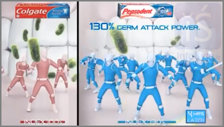 Colgate vs Pepsodent advertisement 2013 August