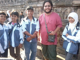 With Tourist in Borobudur :)