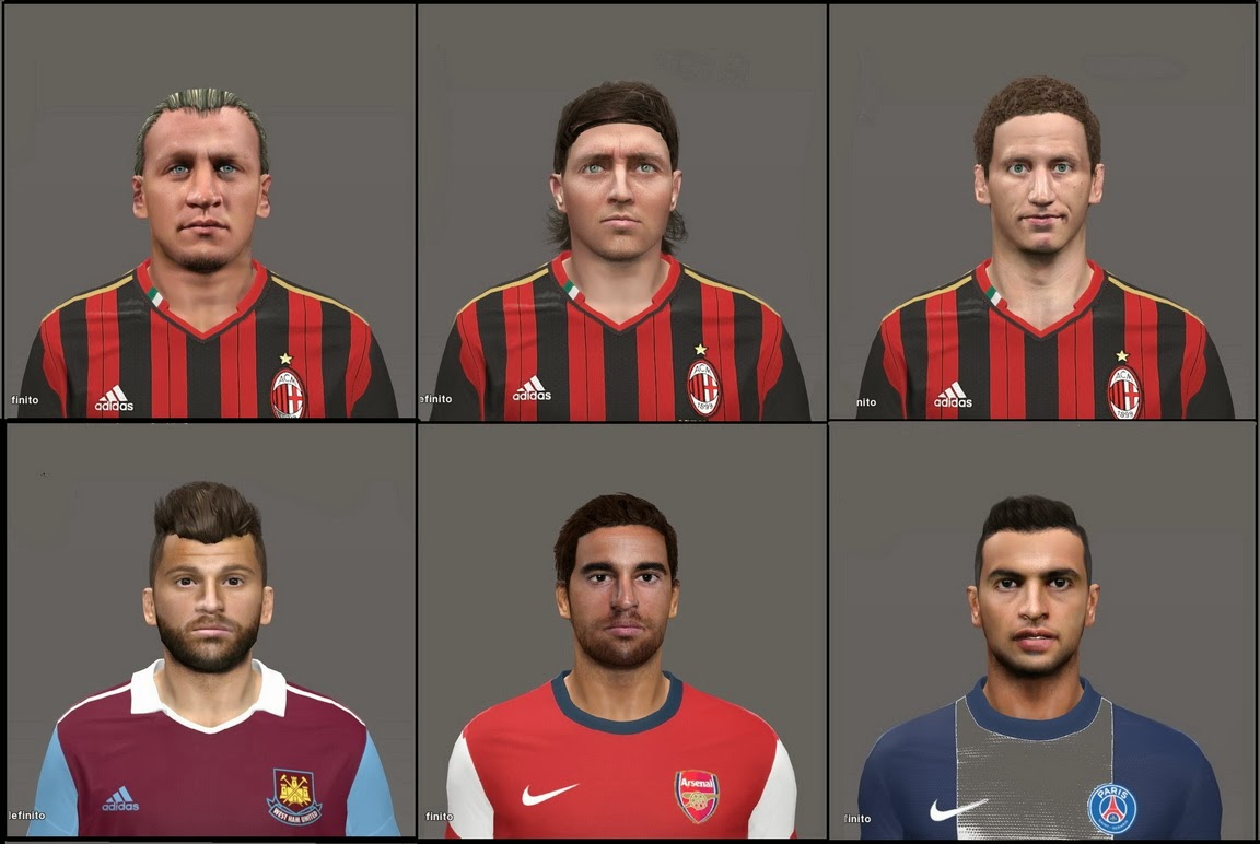 PES 2014 FACEPACK vol.1 by MarioMilan