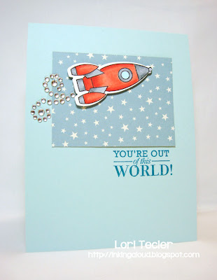 You're Out of this World-designed by Lori Tecler-Inking Aloud-stamps and dies from Papertrey Ink