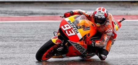 Marc Marquez di sirkuit Austin, MotoGP 2015
